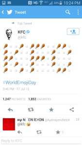 KFC Tweet